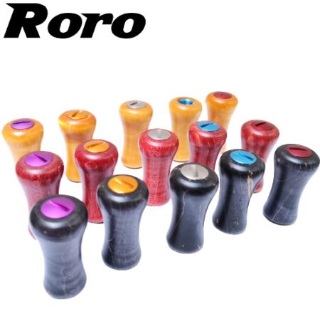 Roro handle knob round hardwood grip daiwa/shimano